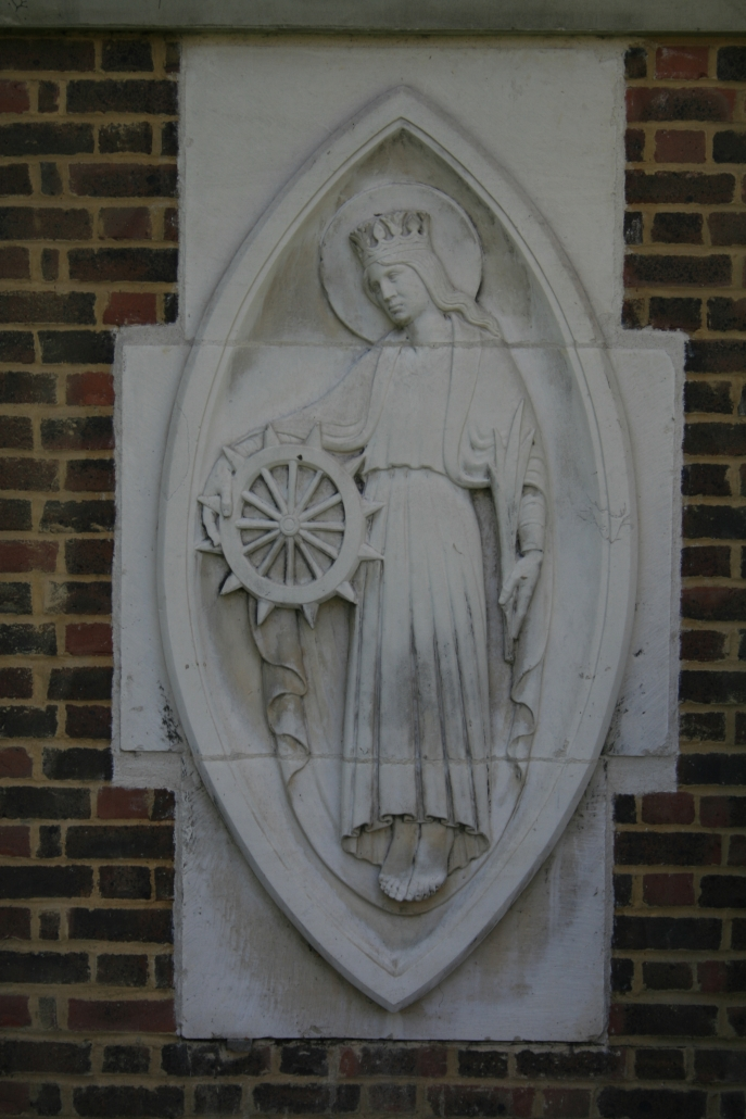 St Katharine and her wheel