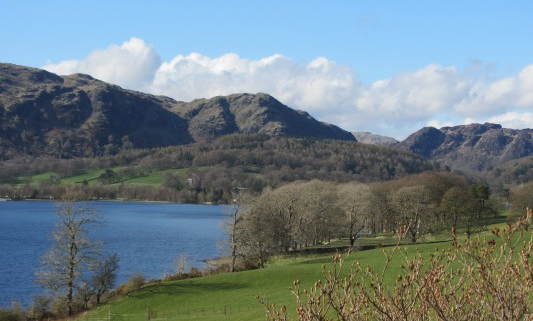 View of Coniston Lake from Ruskin's Drawing Room Window